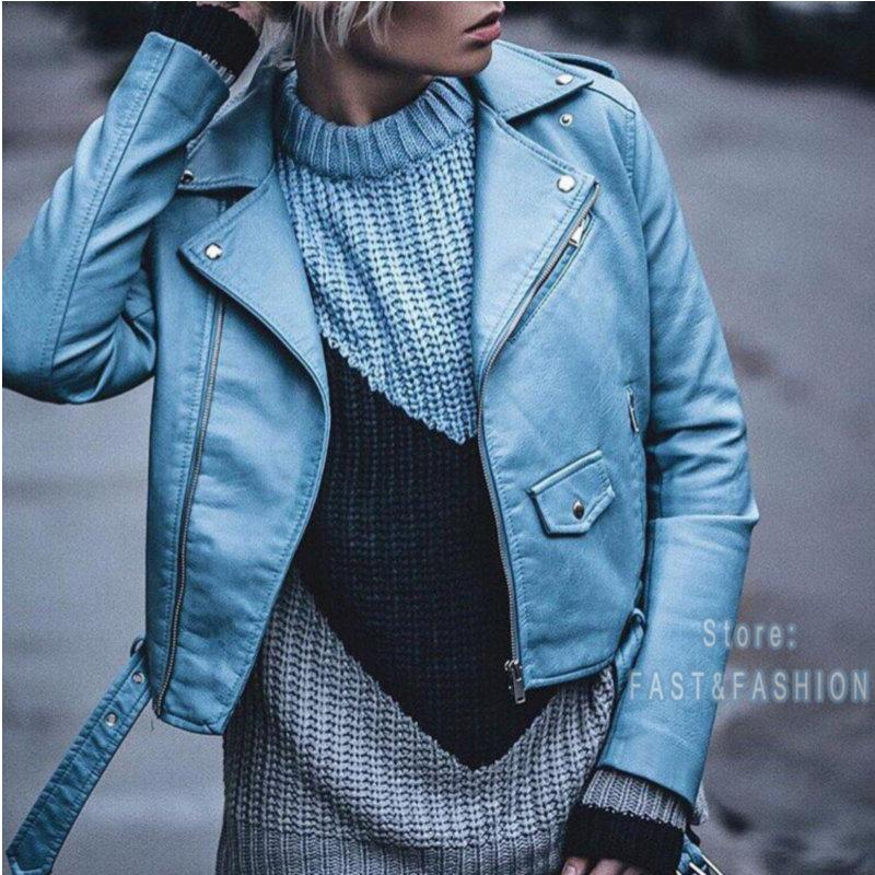 243295bad 2018 New Fashion Women Autunm Winter Wine Red Faux Leather Jackets Lady  Bomber Motorcycle Cool Outerwear Coat with Belt Hot Sale