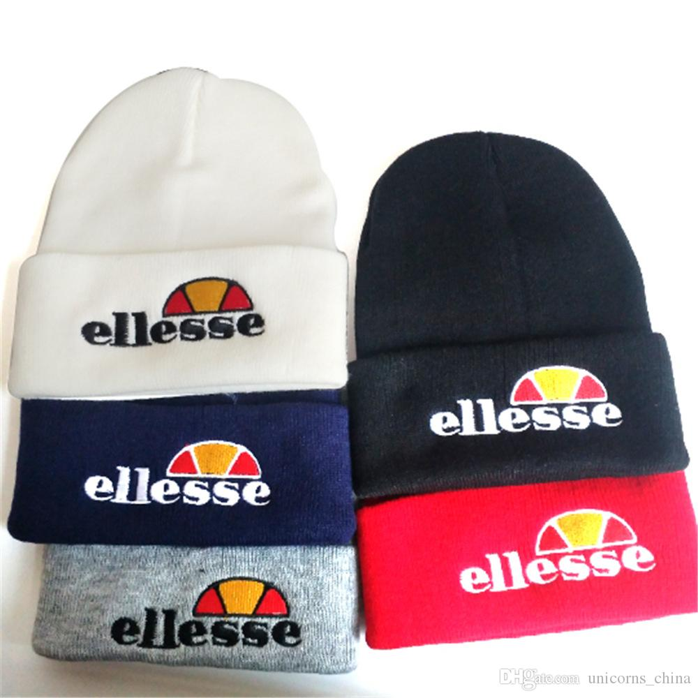 0602e60e8d9 Ellesse Hat Fashion Brand Winter Casual KnittedFor Men And Women Letter  Embroidery Hat Unisex Skiing Cap CNY844 Slouch Beanie Ski Hats From  Unicorns china