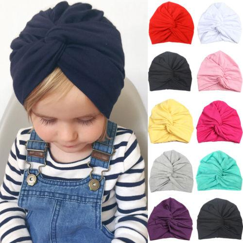 9d526a907e7 Unisex Beanie Hat Newborn Kid Child Baby Soft Cotton Turban Hat Boy ...