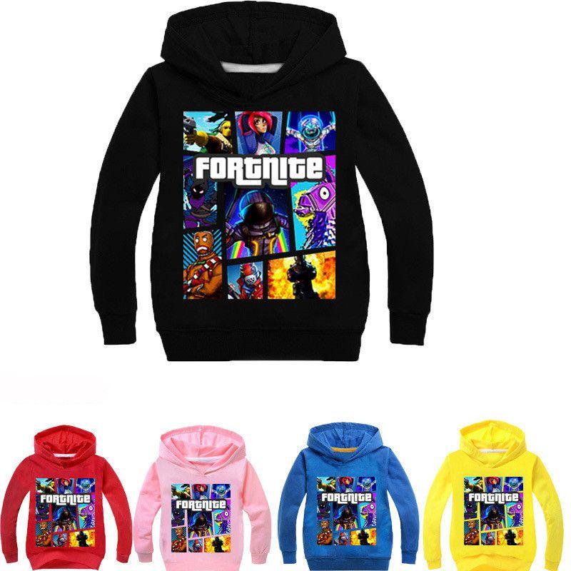 62b2e802539f Game Fortnite Kids Hoodies Sweatshirts Long Sleeve Hoody Spring ...