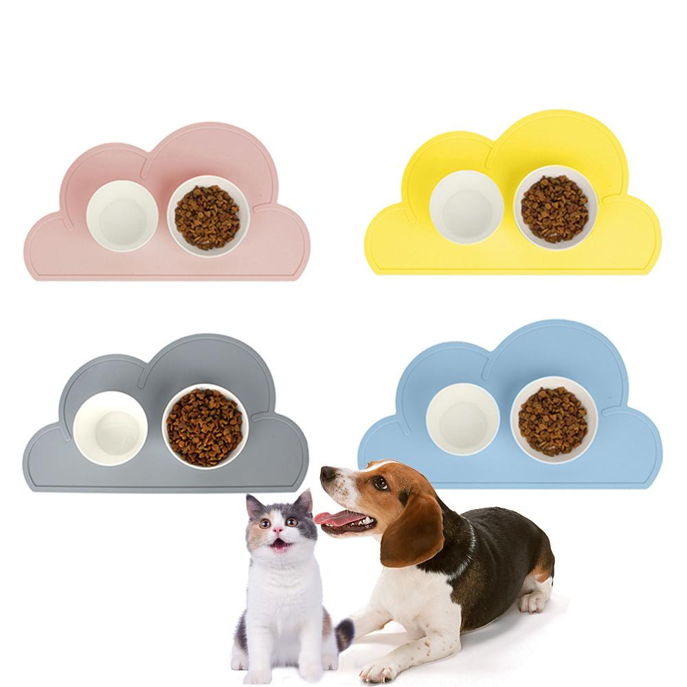 Silicone Dog Placemat Waterproof Cloud Shape Feeding Mat Pad For Cat Easy Washing Bowl Food Drinking Water Pet Supplies Q190523