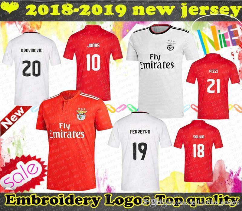 size 40 d1fa3 ed235 Benfica 10 JONAS jersey 14 SEFEROVIC 6 KALAICA 18 ZIVKOVIC 17 SALVIO 19  ELISEU 5 FEJSA Men s Adult red home away soccer jersey