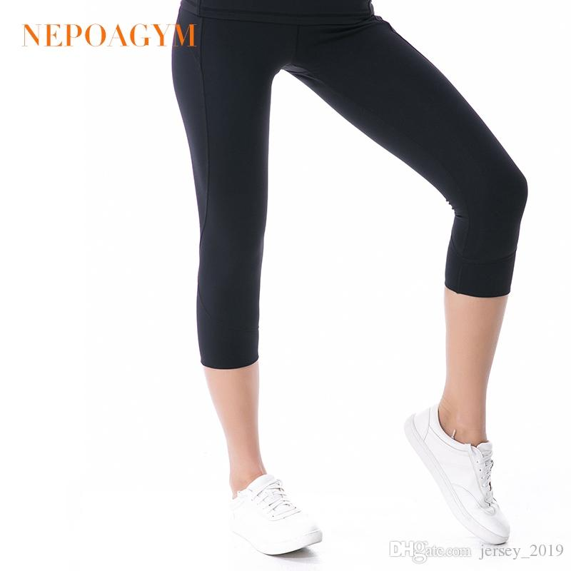 9ab4aa3d06c0cc 2019 Nepoagym Women Squat Proof Yoga Pants Crop Yoga Leggings Sports Capri  Tights Fitness Cropped Pant #157230 From Jersey_2019, $44.51 | DHgate.Com