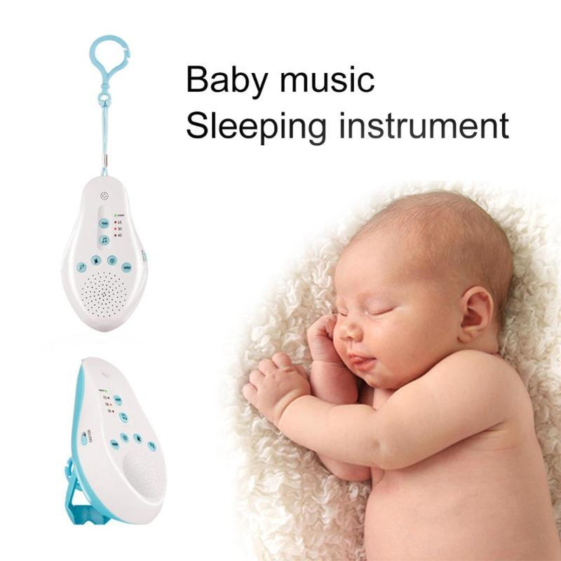 Baby Sleep white noise machine Sound Soothers Record Voice Sensor Lullaby 8  Soothing Sound Auto-off Timer Baby Music monitor
