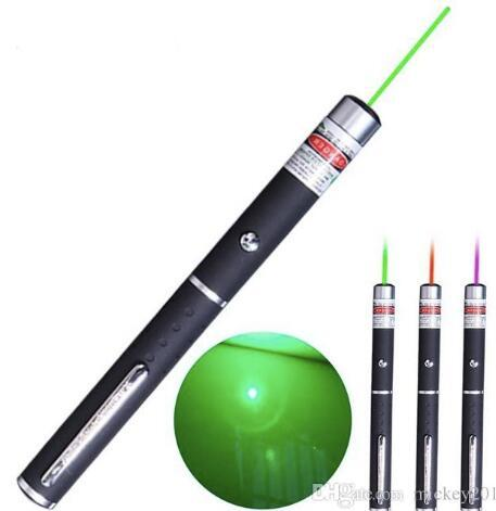 Powerful Military Red Green Laser Pointer Lazer PPT Pen 5MW Burning Visible Beam