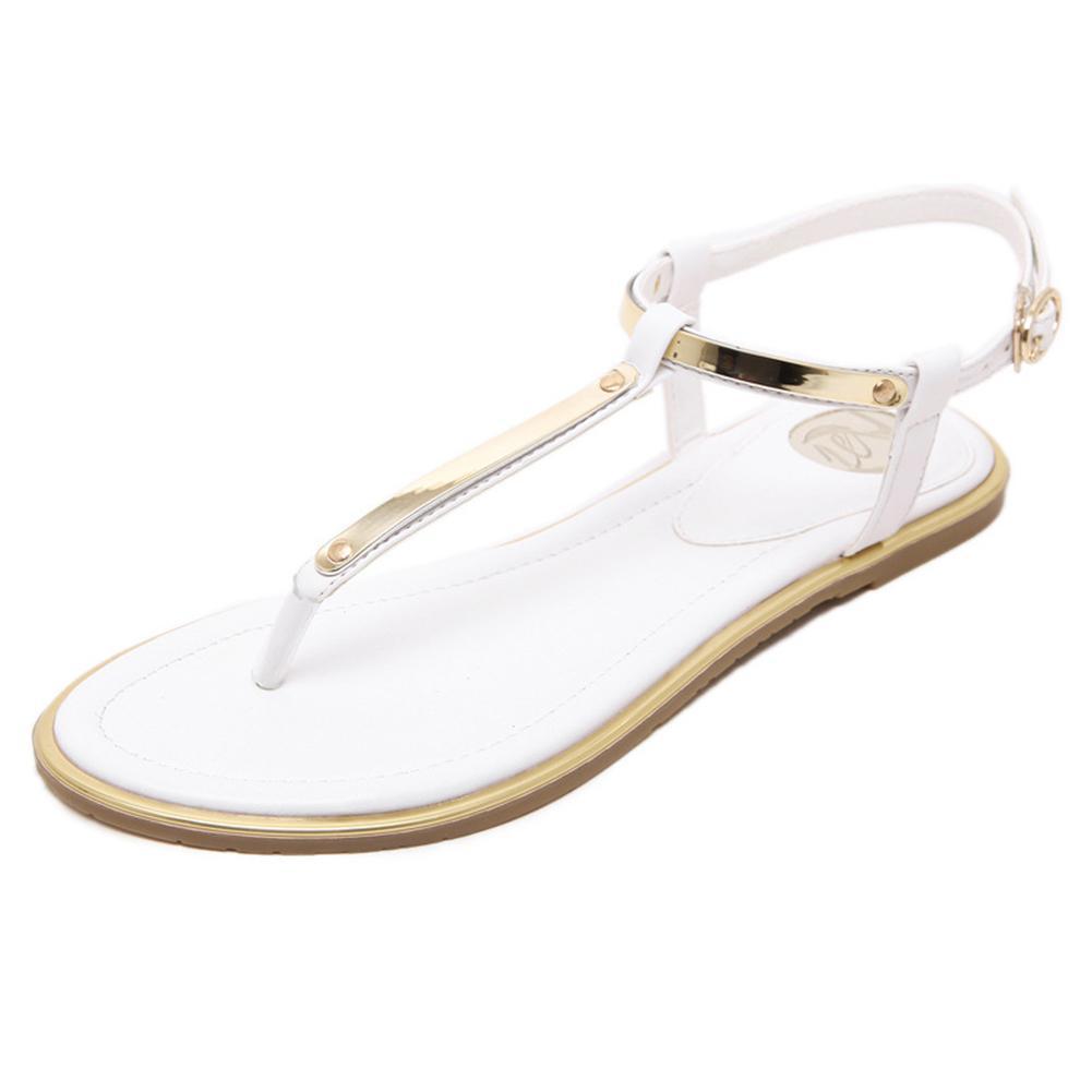 Plana Sandalias Niña De Verano Zapatos Mujer Estudiante Con Para