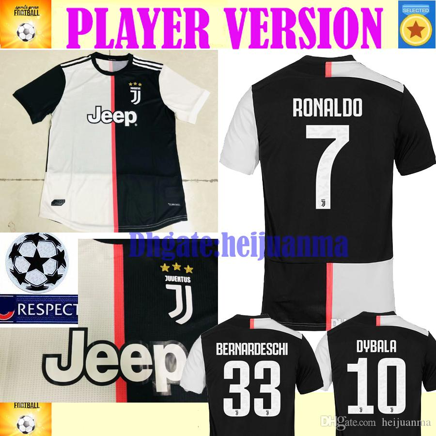 the best attitude 031a2 b55e6 2020 RONALDO Player Version Juventus soccer jersey 2019 2020 DYBALA HIGUAIN  POGBA CUADRADO CHIELLINI BUFFON DANI ALVES football shirts
