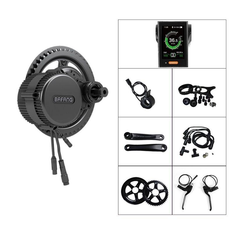 48V 750W Bafang BBS02B Mid Drive Center Motor Electric Bicycle Conversion  Kit Powerful E Bike Kit w/ Display DPC18 500C 750C