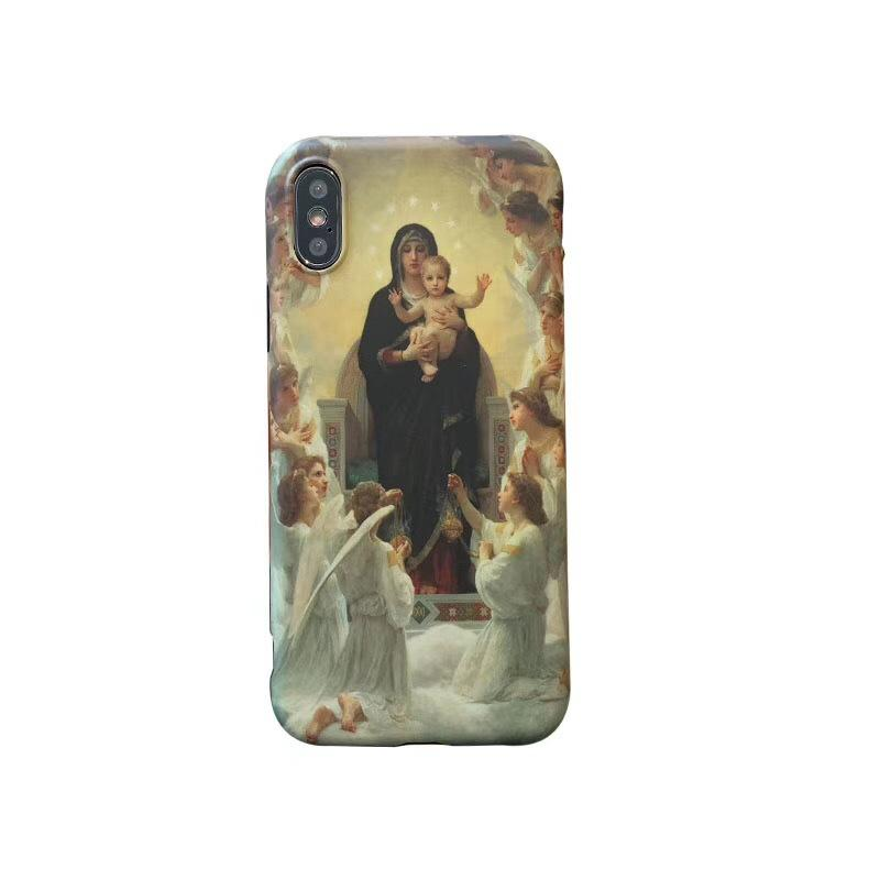 Retro Europe Middle Ages Painting Style Phone Cases for IPhoneX/XS IPhone7/8plus IPhone7/8 6/6s 6/6sP Fashion Instagram Style IPhone Case