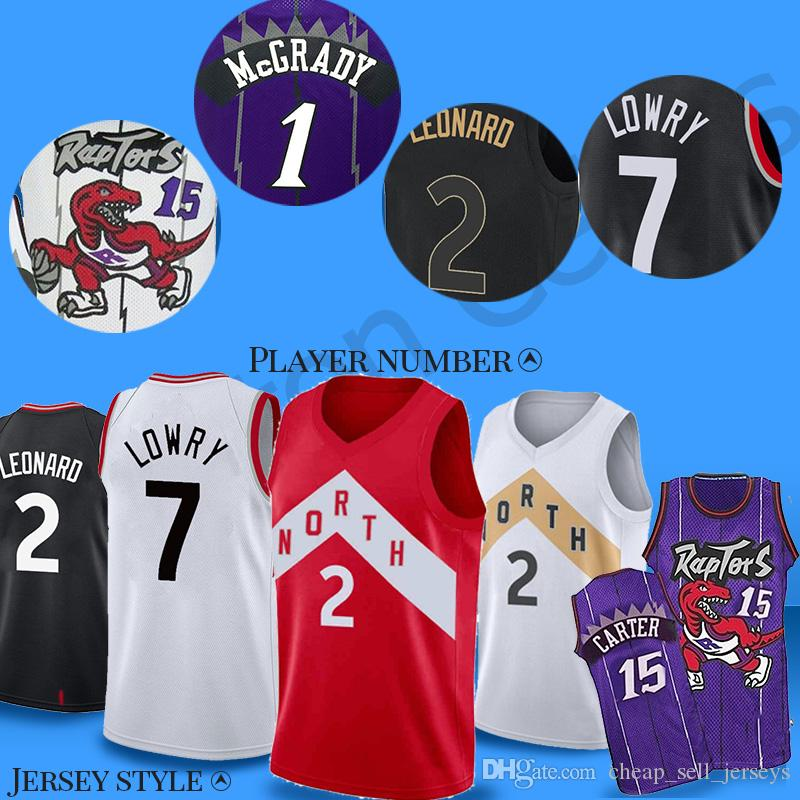 167ea5532b8 2019 15 Carter Toronto Jersey Kyle 7 Lowry Raptor Vince 2 Leonard 1 McGrady  2018 New Basketball Jersey Men Fans Clothes Printed From  Cheap sell jerseys