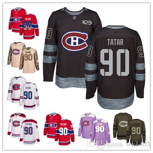 check out 98fdb 5d327 Montreal Canadien jerseys #90 Tomas Tatar Jersey hockey men women youth  white red home away Stiched Fanatics classic Jerseys