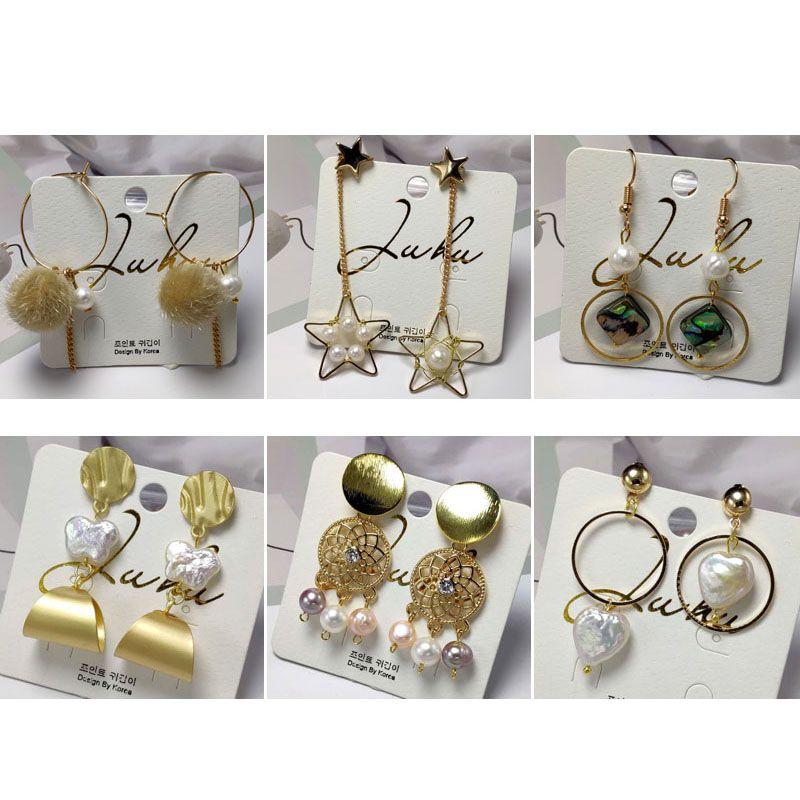 66b92ed31e1 Baroque Pearl Stud Earrings for Women Handmade Gold Plated Earring Natural  Freshwater Pearl Earrings Tassel Earrings Valentine s Day Present