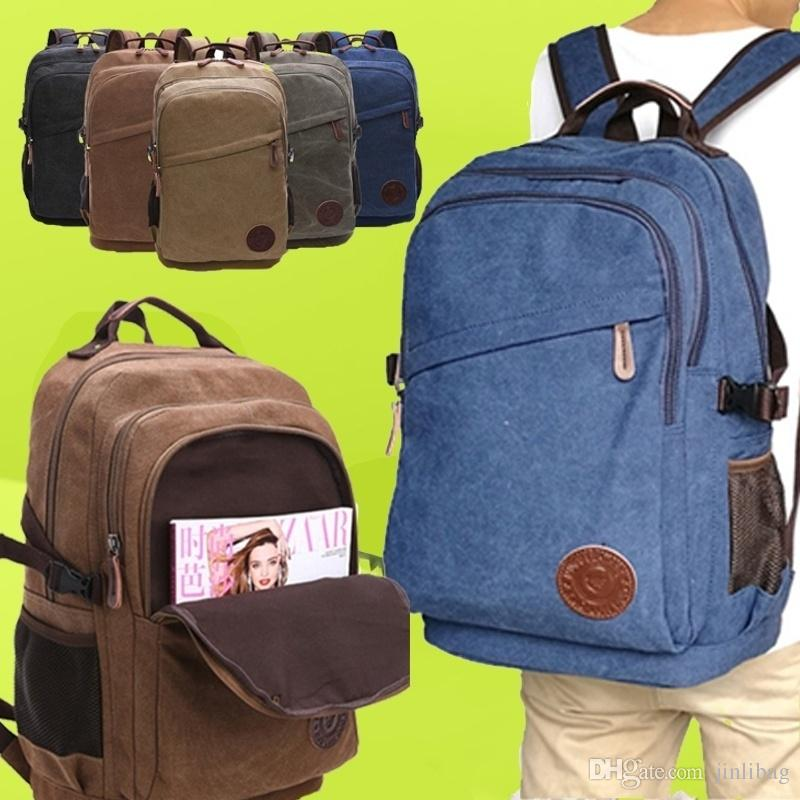 Women Man School Travel Leisure Daily Use Outdoor Street Fashion Large  Capacity Canvas Backpack Travle Outdoor Canvas Backpack Online with   45.97 Piece on ... d4543f4774aac