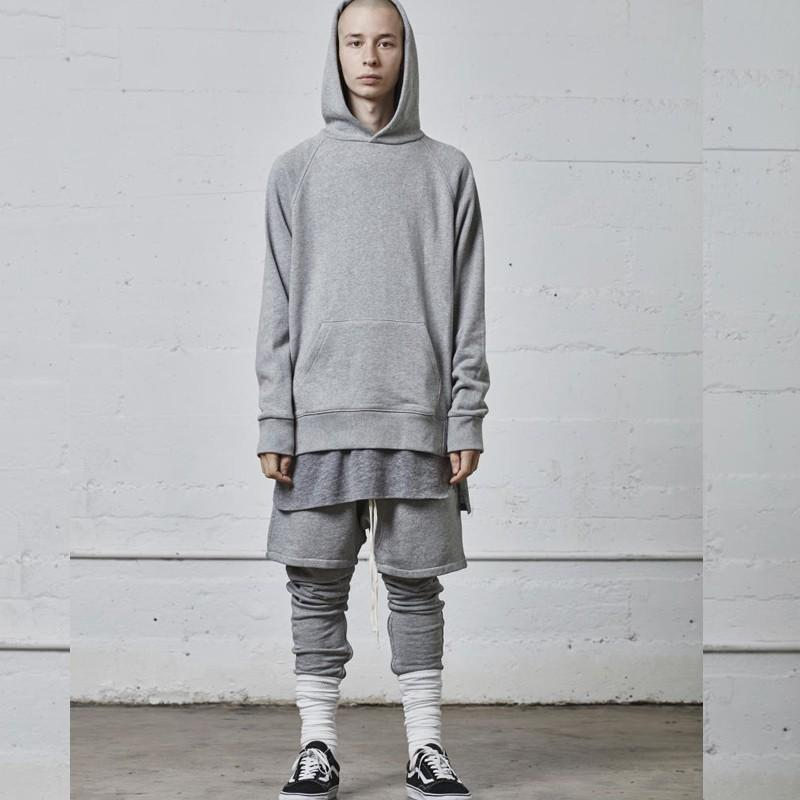 19SS FEAR OF GOD Essentials FOG Arc Hem Split Bottom Shirt Long Paragraph Tee Men And Women Couple Casual T-shirt HFSSTX110