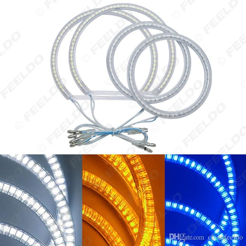 3-Color 4pcs/Set Car LED Halo Rings Angel Eyes DRL Head Lamp For Ford Focus 08+ #3665