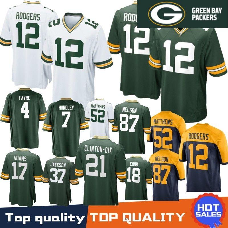 buy online 760fe 4f62b Stitched 12 Aaron Rodgers Green Bays Jersey Packers 80 Jimmy Graham 23  Jaire Alexander 37 Jackson 4 Brett Favre 17 Davante Adams 52 Matthews