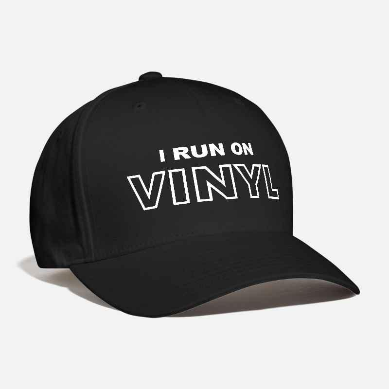 7dd5ab6b4b012 Men s Women s I Run On VINYL Customized Embroidered deejay disc jokey Remix  record collector old school Fashion Curved Dad Cap