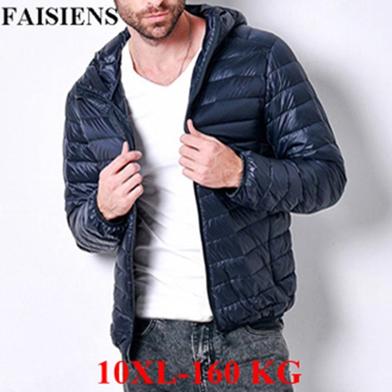 18b8eb5f8c185 FAISIENS Winter Jackets Large Big Size 7XL 8XL Men Hooded 9XL 10XL Plus Size  Loose Parkas Men Sportwear Outwear Light Jackets 5 Men Outerwear Sale  Jackets ...