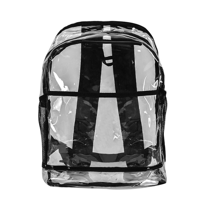 b820824f7187 HEFLASHOR Women Transparent plastic Backpack PVC Clear School Bags Fashion  Girls jelly Backpack female creativity rucksack