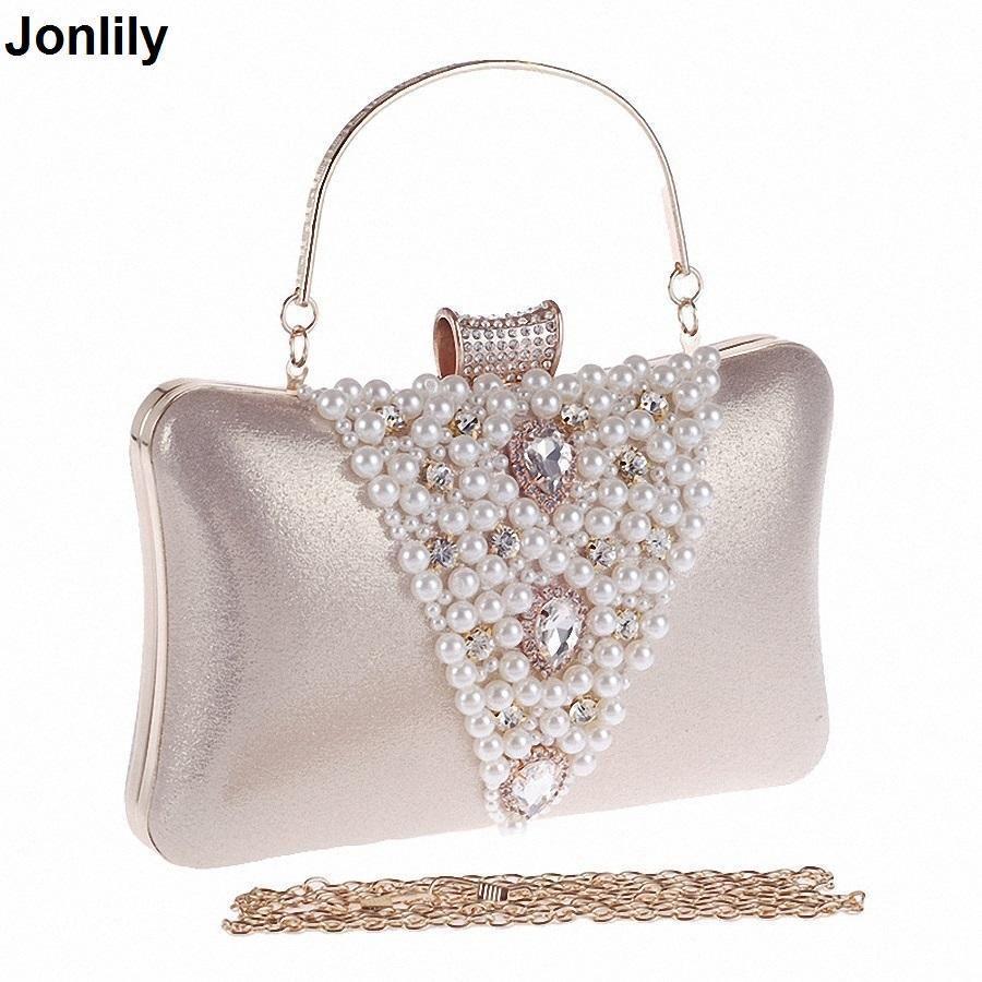 1cfb66d2d9 Nice Women Pearl Evening Bags Handmade Beaded Day Clutches Crystal Purses  And Handbags Gorgeous Bridal Wedding Party Bag Li 1255 Womens Handbags Red  ...