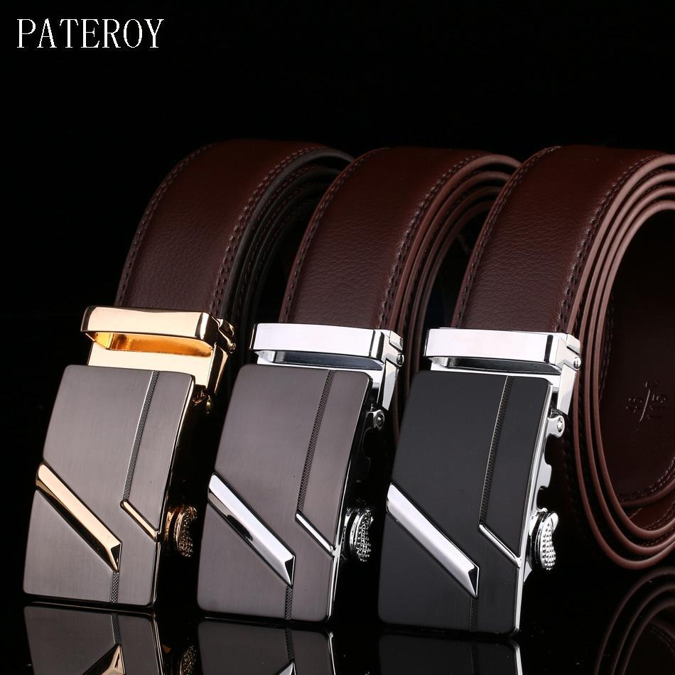 Bekleidung Zubehör Pateroy Gürtel Männer Echte Leder Für Jeans Designer Gürtel Für Männer Hohe Qualität Automatische Schnalle Luxus Ceinture Homme
