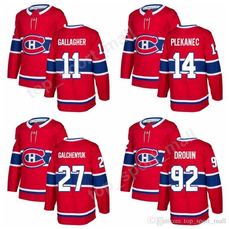premium selection 0ec74 fc684 Montreal Canadiens 11 Brendan Gallagher Jersey New Season 27 Alex  Galchenyuk Hockey Jerseys 14 Tomas Plekanec 92 Jonathan Drouin