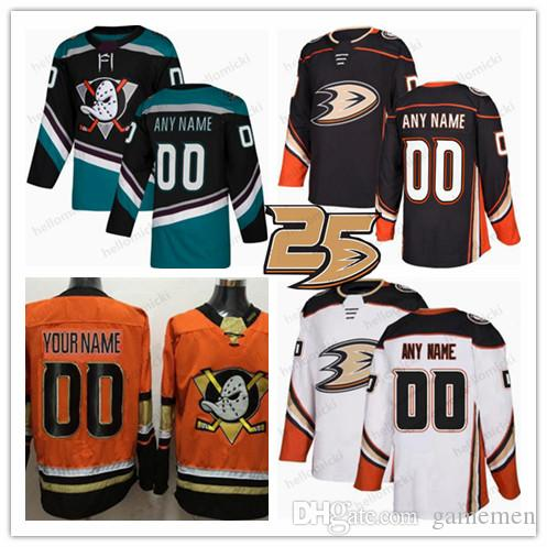 low priced 6d9e8 977c4 Anaheim Ducks 2018 Black Third 25th Jersey Custom Any Name Number men women  youth 17 Ryan Kesler 9 Paul Kariya 30 Ryan Miller