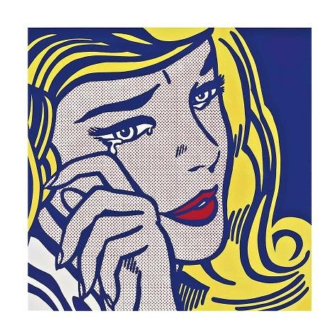 Roy Lichtenstein Crying Girl High Quality Hand Painted &HD Print Pop Portrait Wall Art Oil Painting On Canvas Home Decor Multi sizes R18