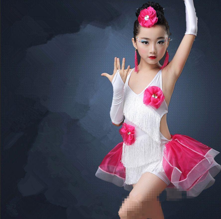 b560a881ed10 Professional Girls Modern Ballroom Latin Dance Costumes Fringe Latin ...