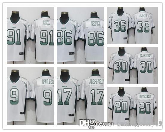 e9a2f722f7d Philadelphia Eagles 07 Jersey 11 Carson Wentz 20 Dawkins Jeffery 9 ...
