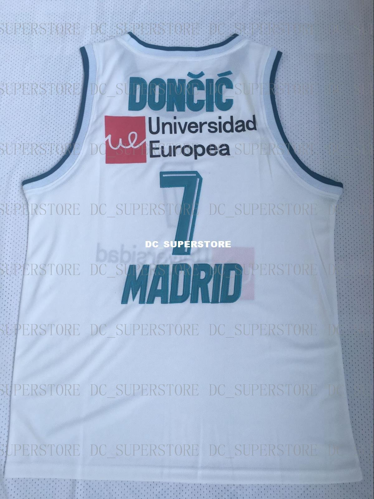 a145dbadca118 Acheter Maillot De Basketball Pas Cher Luka Doncic Madrid Euroligue Blanc  NEUF De Haute Qualité De $34.02 Du Dc_superstore | DHgate.Com