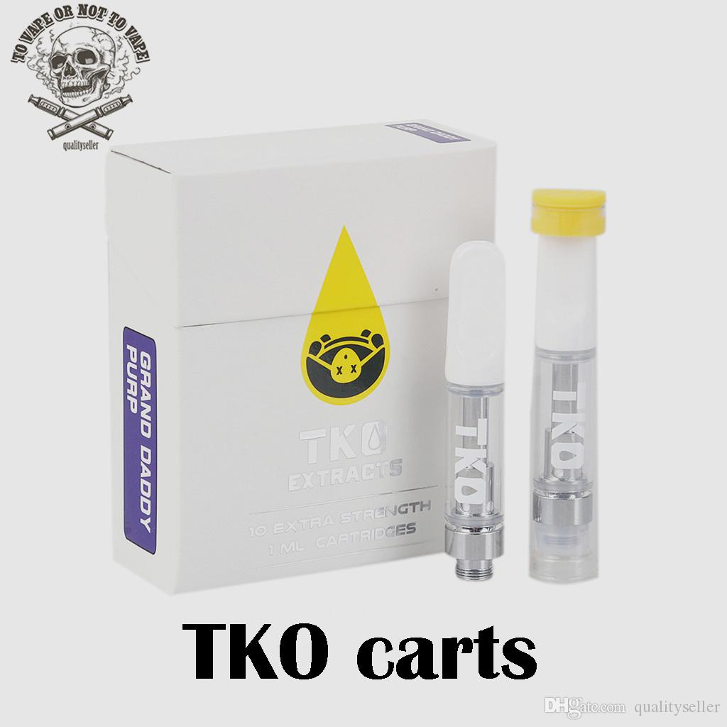 TKO Extracts Vape Cartridges Packaging Cookies Carts 0 8ml 1ml Ceramic  Empty Vape Pen Cartridge E Cig Vaporizer For Thick Oil 510 Battery
