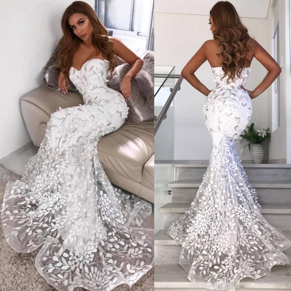 Sweetheart Neckline Lace Mermaid Wedding Dresses New 2019: Gorgeous 2019 Mermaid Wedding Dresses Sweetheart Appliques