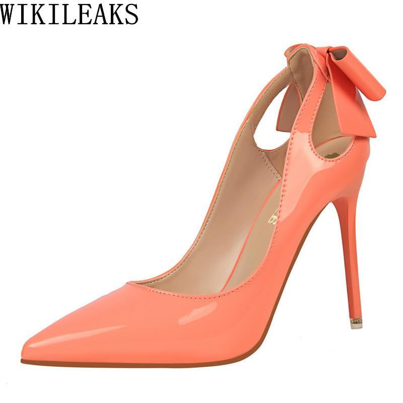 fcb9fc12d7e Dress Red Extreme High Heels Women Designer Shoes Luxury 2019 Brand Ladies  Bigtree Wedding Shoes Bridal Stiletto Shoes Bowknot Pumps Strappy Heels  Geox ...
