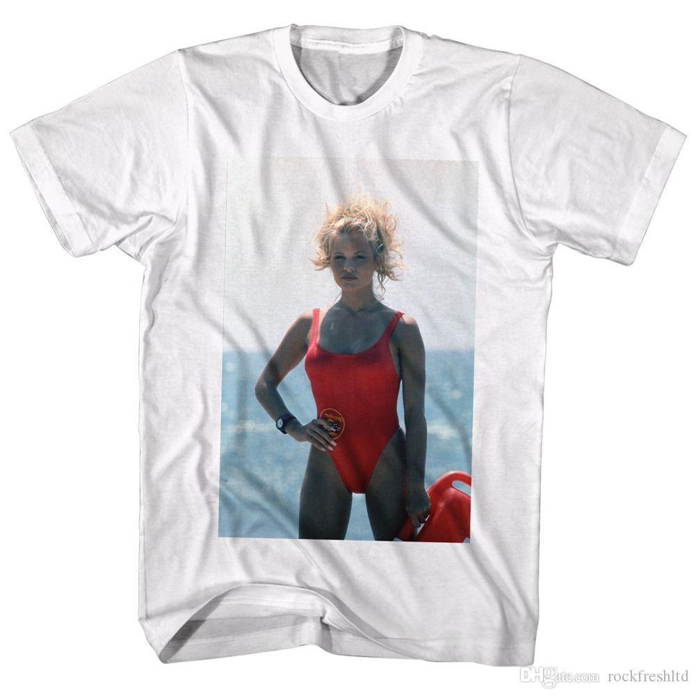 Baywatch TV Show C J  Parker Life Guard Licensed Adult T Shirt