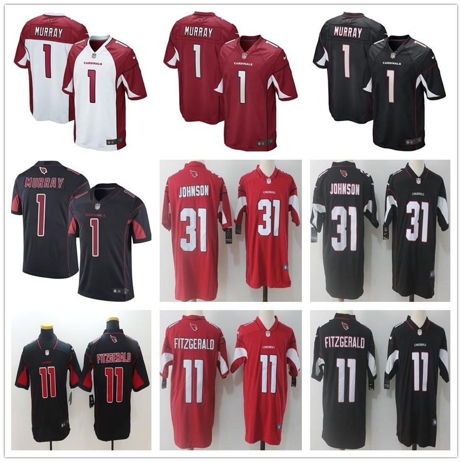 new products eb16b 115f0 2019 New Arizona #1 Kyler Murray Jersey 11 Larry Fitzgerald 31 David  Johnson Cardinals Stitched Red White Black Football Jerseys