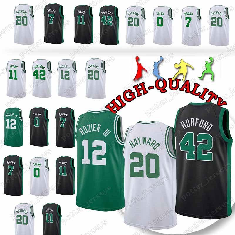 48a9548a3ed Boston 0 Tatum Celtics 11Kyrie Men Irving Jerseys 20 Hayward 7 ...