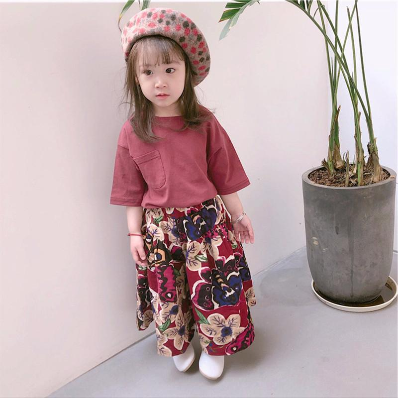 7b9dea0e052 Children s Wear Girl s Suit Middle Sleeve T-shirt Plus Design And ...