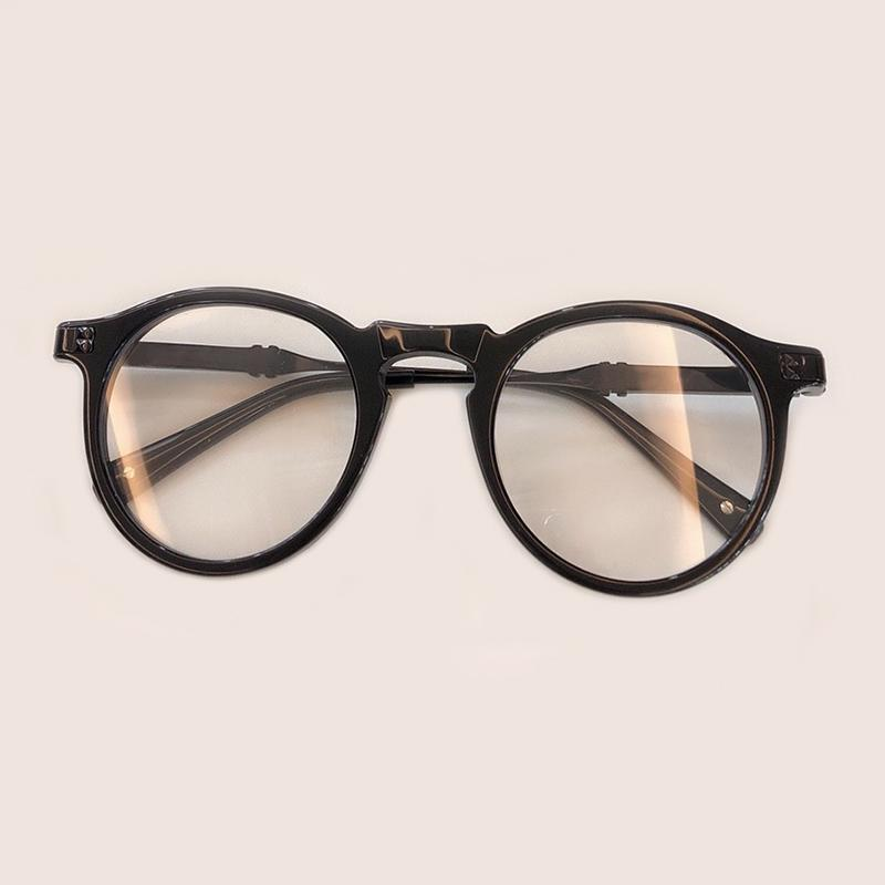 b2f0592ad3c 2019 New Man Woman Retro Round Glasses 2019 Acetate Frame Eyeglass Frame  Black Spectacles Eyeglasses Brand Designer Glasses Frames From Byuild
