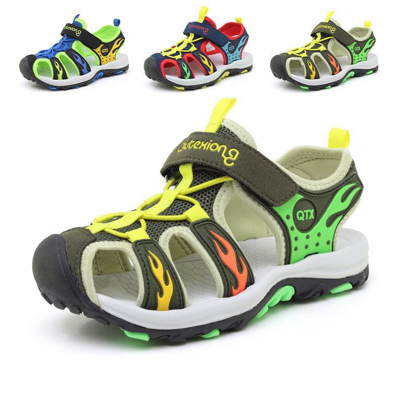 fa6a8008f8638 Acheter 2019 Chaussures D été Pour Enfants De Plage Fermées Sandales À  Talons Pour Garçons Et Filles Designer Sandales Pour Tout Petits Pour Les 4  À 15 Ans ...