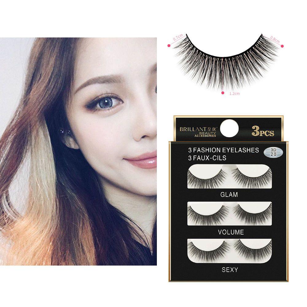 aa20d29f697 New Fashion Women Soft Natural Long Cross Fake Eye Lashes Handmade Thick False  Eyelashes Extension Beauty Makeup Tools Permanent Eyelash Extensions Semi  ...