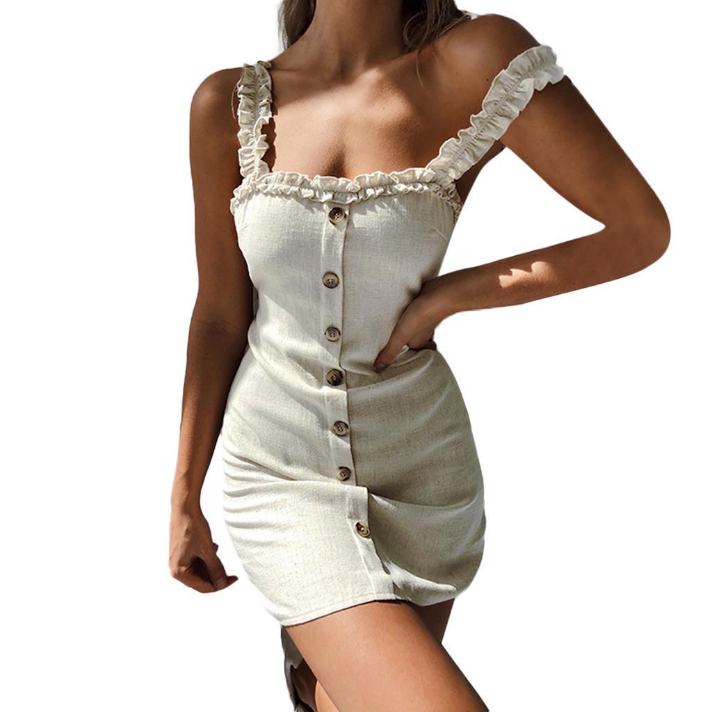 8a58eba64910 Acquista Abbigliamento Sexy Off Back Mini Dress DressCasual Ladies Girl  Summer Beach Sundress Nuovi Vestiti Fashion Womens Party Dress A  45.99 Dal  Cozywine ...