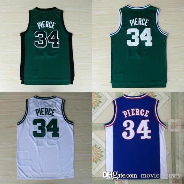 6008eba0d18 2019 NCAA Quality Boston 34 Paul Pierce Jersey Celtics Green White 100%  Embroidery Logo Stitched College Paul Pierce Basketball Jerseys From  Movie_jersey, ...