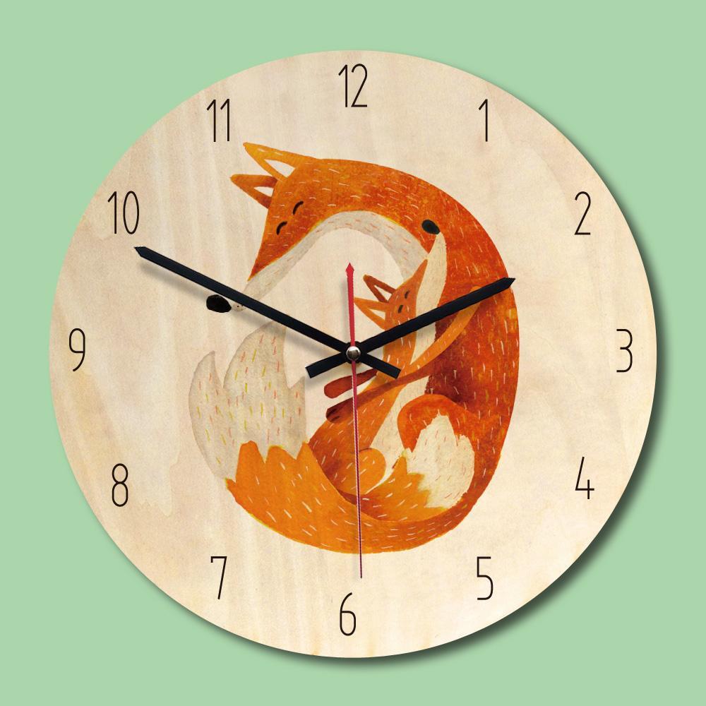 Acheter Sanyu Nouvelle Arrivee En Bois Horloge Murale 11 Pouce Ronde