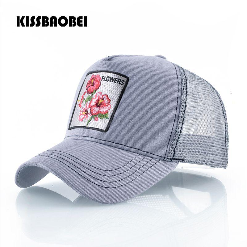 9005da02472 Summer Mesh Trucker Cap Women Casual Baseball Hat Bonnet Ladies Embroidery  Snapback Hip Hop Caps Women Adjustable Hats Gorras Men Hats Zephyr Hats  From ...