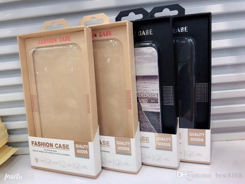 Universal Kraft Paper Retail Packaging Package Box For Iphone XR XS MAX X 8 7 Plus 6 6s 4.7 5.5 inch Hard Soft TPU Back Cases Cover Luxury
