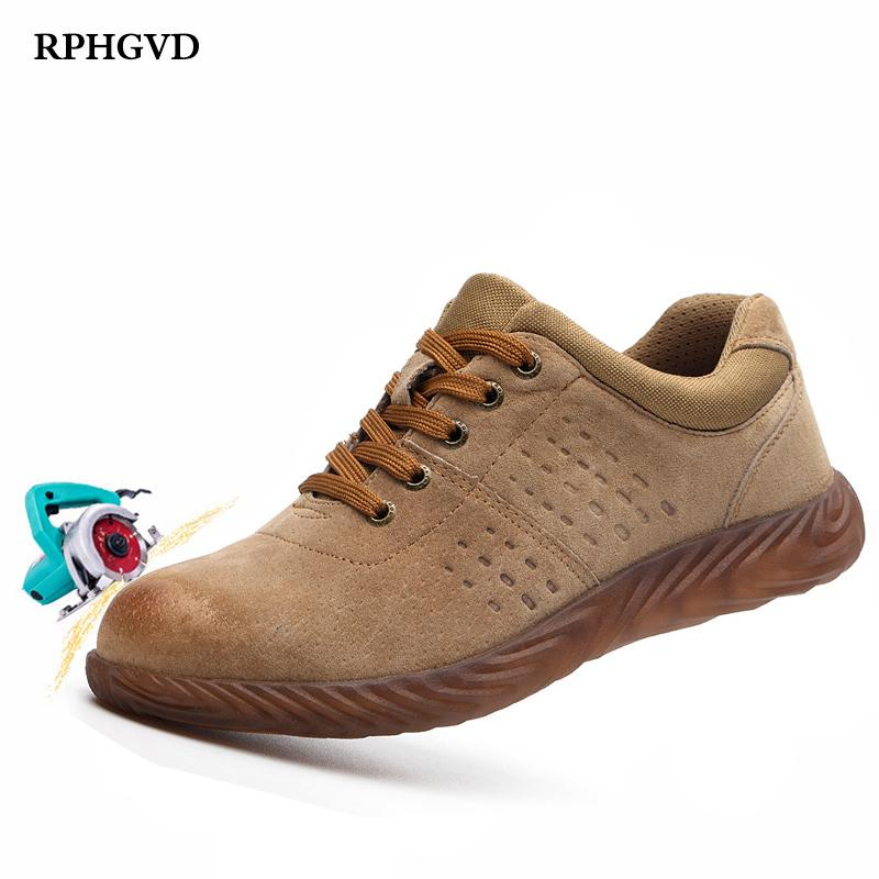 Labor Insurance Shoes Men Steel Head Anti-smash Stab-resistant Anti-slip Electric Welder Beef Tendon Jelly Bottom Work Shoes MX190819