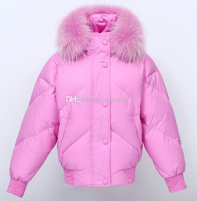 836ed9469 Hot INS net Raccoon fur hoody JAZZEVAR women down jacket with White duck  down thickened anti-bread women bomber coats