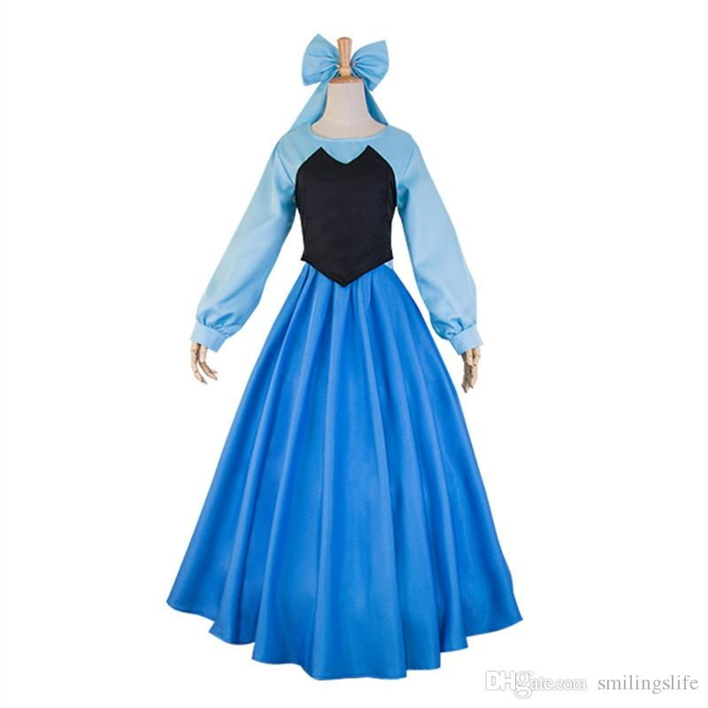 64ecff91f418 Hot Sale Theme Costume Mermaid Cosplay Dress Full Set With Bowknot Funny  Costume Themes 4 Person Group Halloween Costumes From Smilingslife, $30.46|  DHgate.