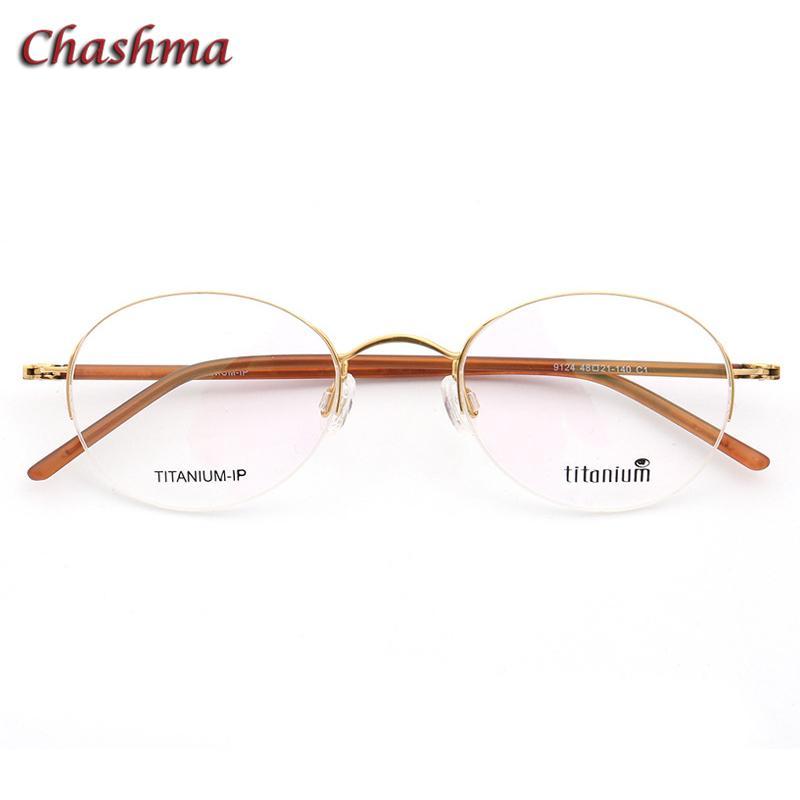 e1006603494d 2019 Chashma Designer Light Eyewear Vintage Round Frame Women Gold Small  Circle Titanium Glasses Frame For Men Spectacles Retro From  Pulchritudinous